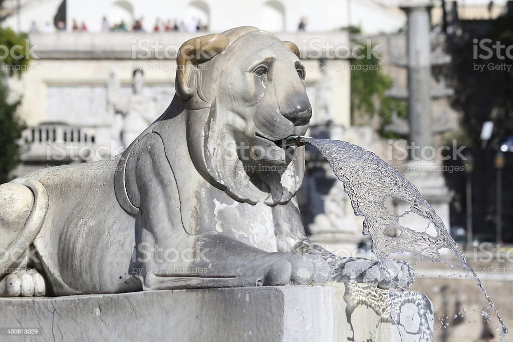 Rome, Fountain in Piazza del Popolo stock photo