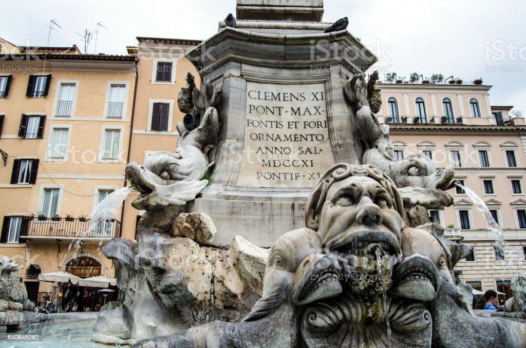 Rome fountain stock photo