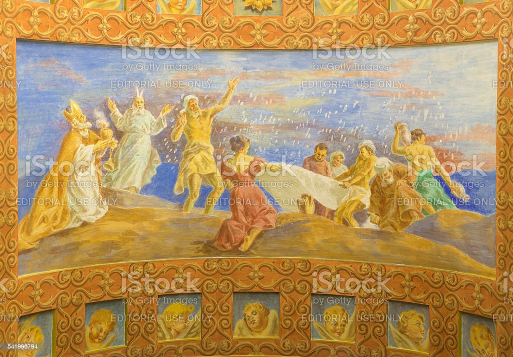 Rome - Gathering the Manna in the Desert stock photo
