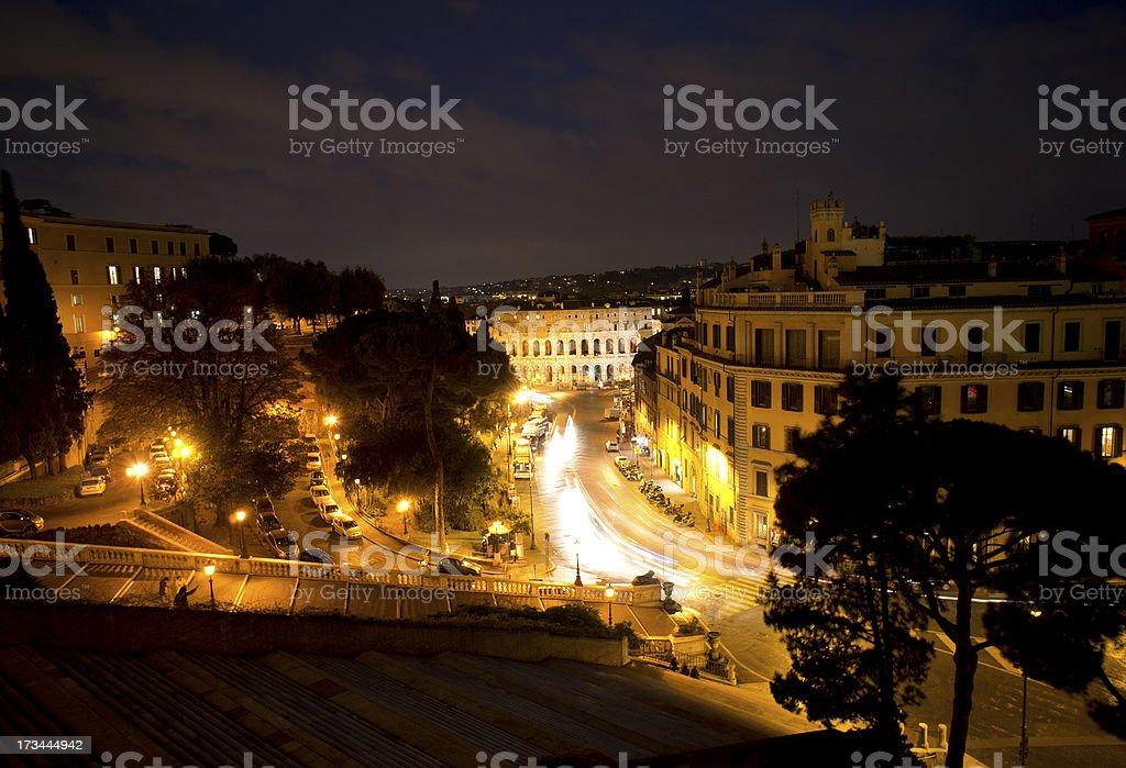 Rome in Twilight royalty-free stock photo