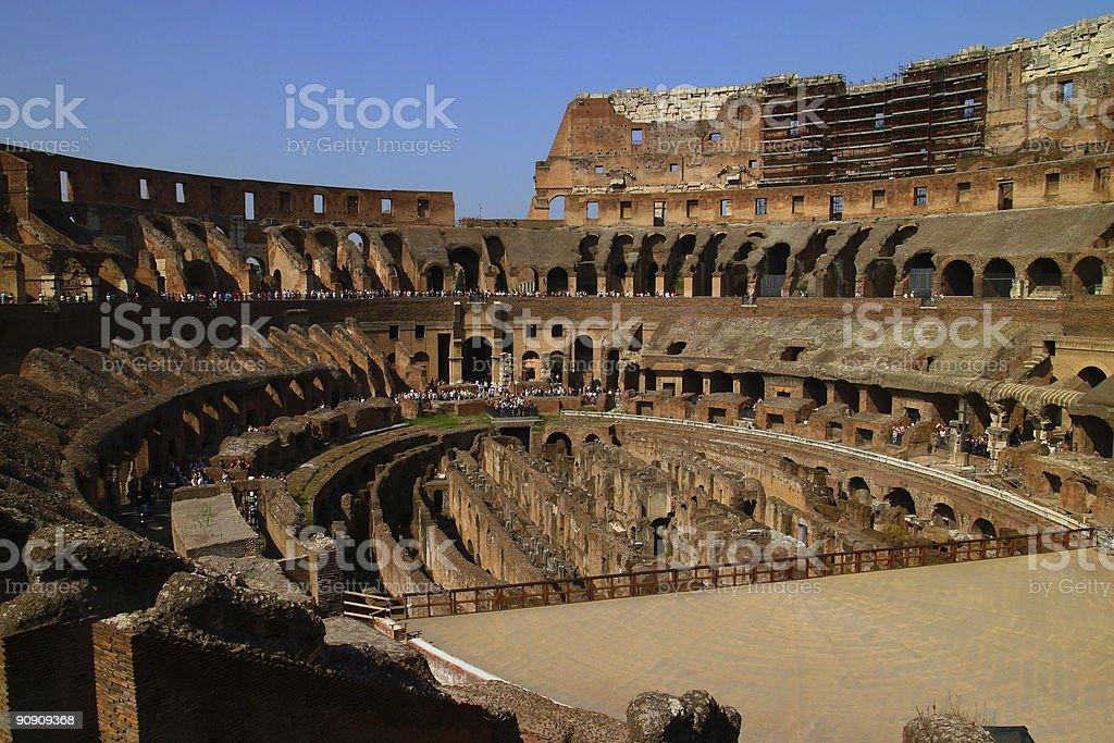 Rome - Inside Colosseum stock photo