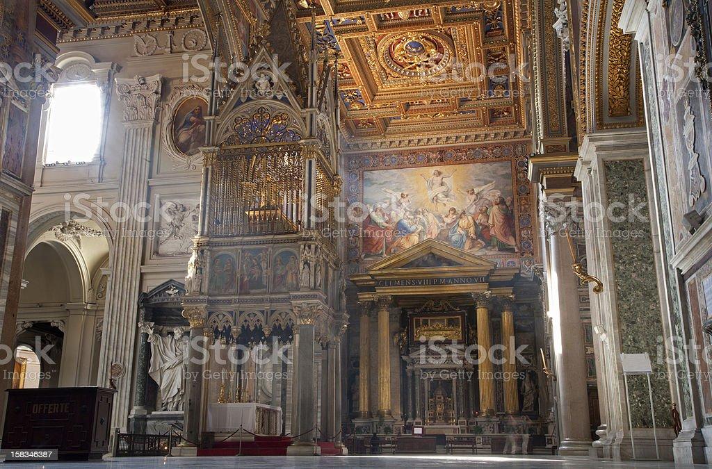 Rome - interior of basilica San Giovanni in Laterano stock photo