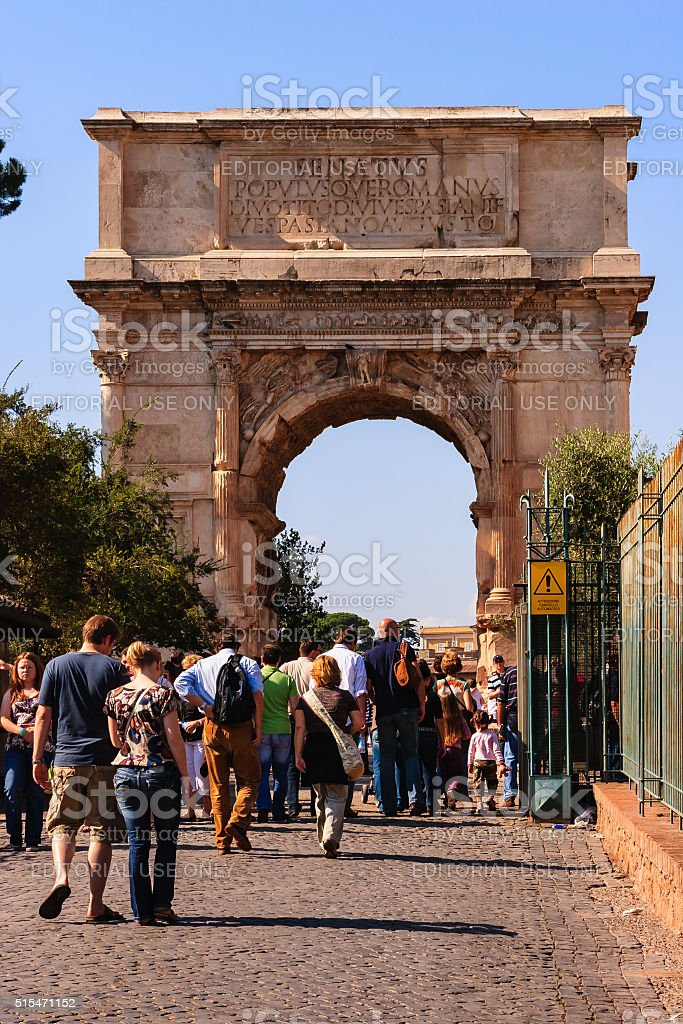 Rome, Italy - Arch of Titus stock photo