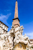 Rome, Italy - Egyptian obelisk in Piazza Navona