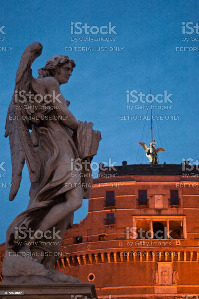 Rome, Italy, famous angel statue stock photo