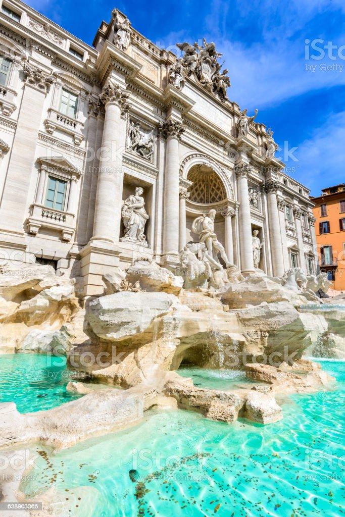 Rome, Italy - Fontana di Trevi stock photo