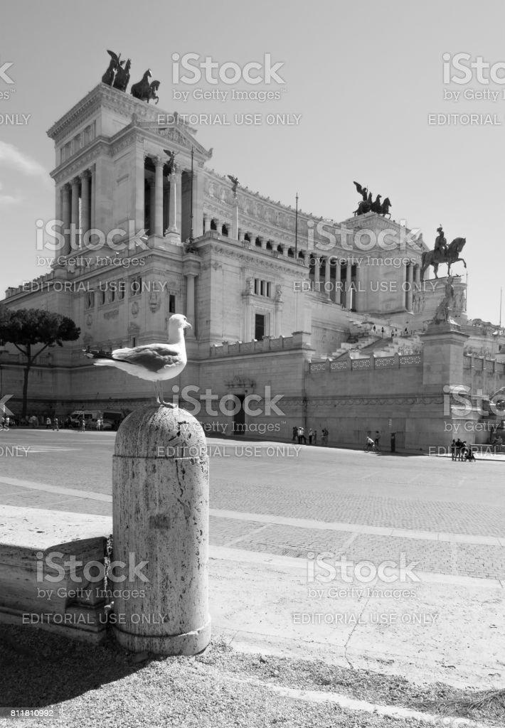 Rome, Italy - Fori Imperiali and Vittoriano monument stock photo