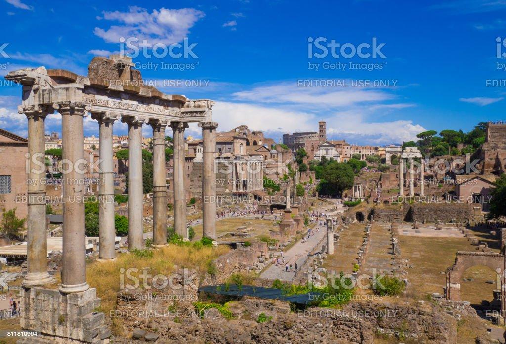 Rome, Italy - Fori Imperiali stock photo