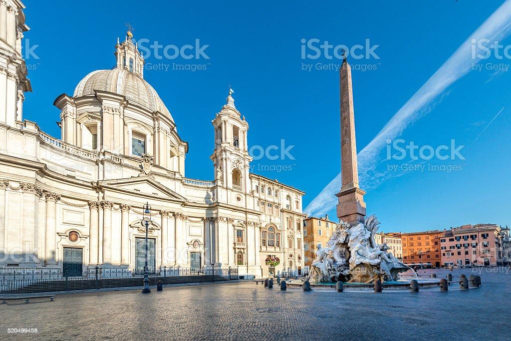 Rome, Italy, Fountain at Piazza Navona stock photo