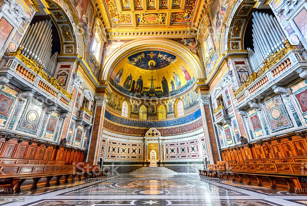 Rome, Italy - Lateran Basilica, Papal Cathedral stock photo