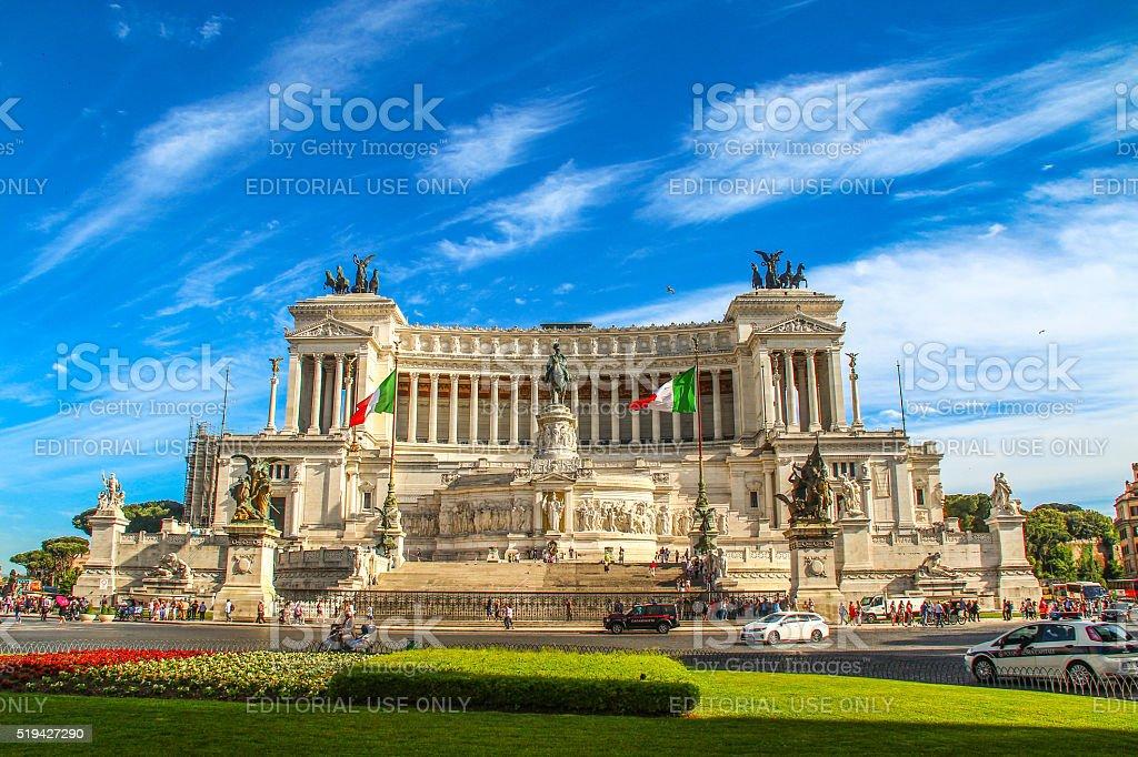 Rome, Italy - May 07, 2015 - Piazza Venezia stock photo