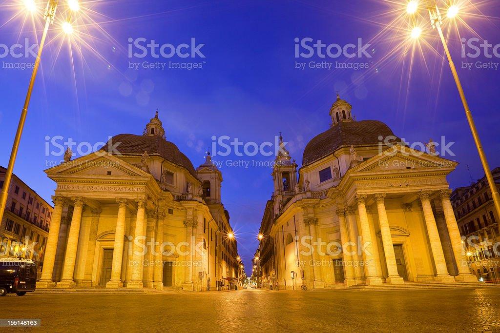 Rome Italy Piazza del Popolo royalty-free stock photo