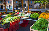 Rome, Italy: Summer Fruit and Veggie Market in Trastevere
