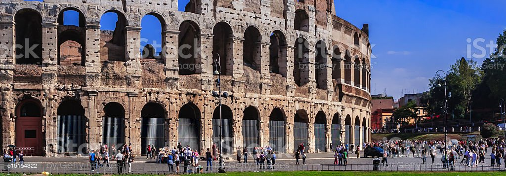 Rome, Italy - The Colosseum exterior stock photo