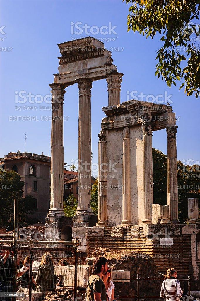 Rome, Italy - The temple of vesta stock photo
