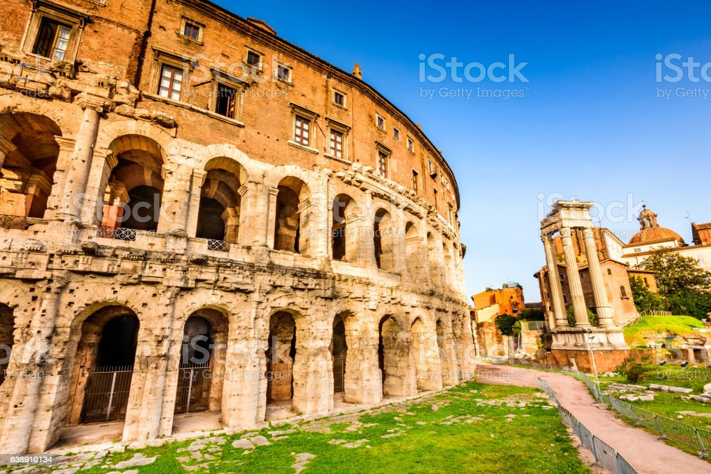 Rome, Italy - Theatre of Marcellus stock photo