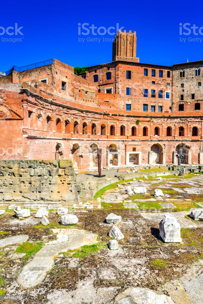 Rome, Italy - Trajan Market stock photo