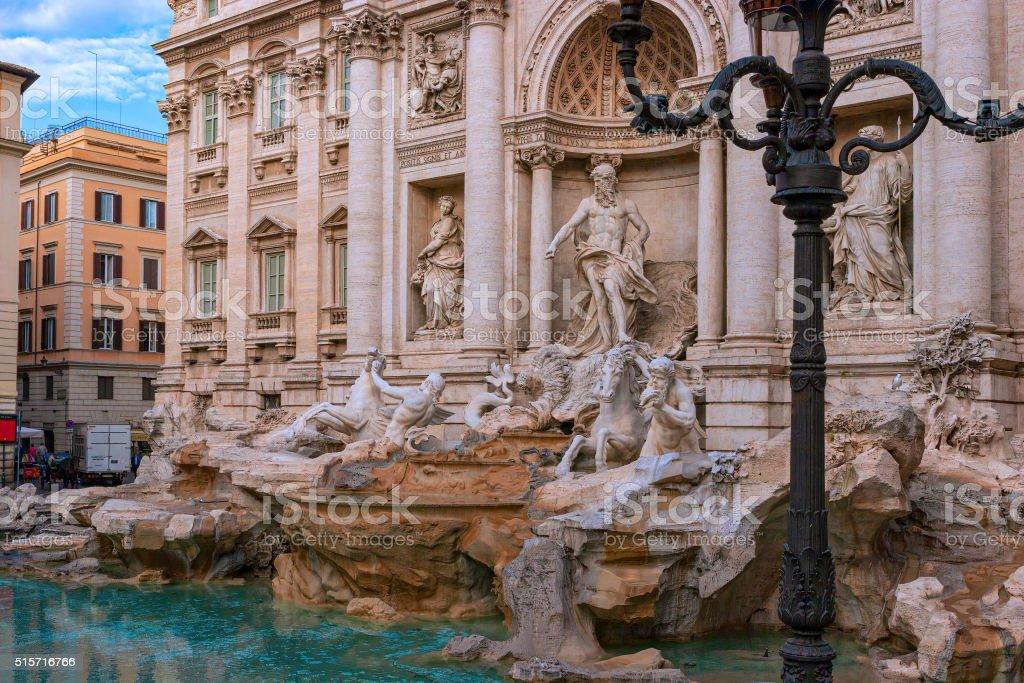 Rome, Italy - Trevi Fountain stock photo