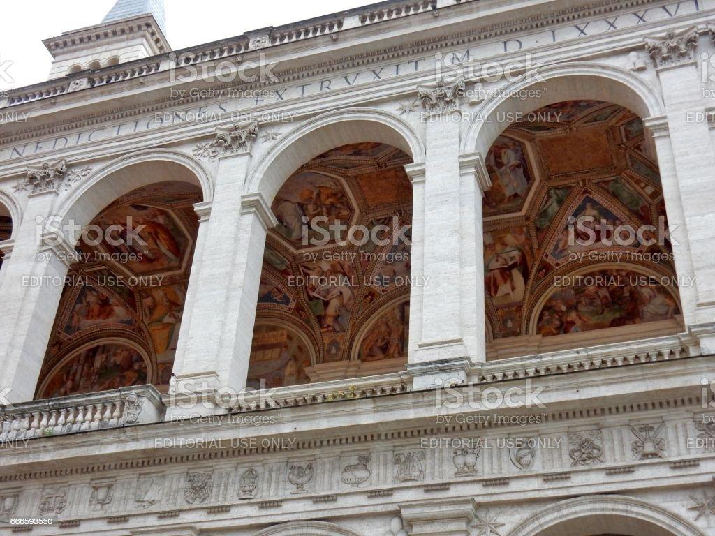 Roma - Loggia delle Benedizioni stock photo