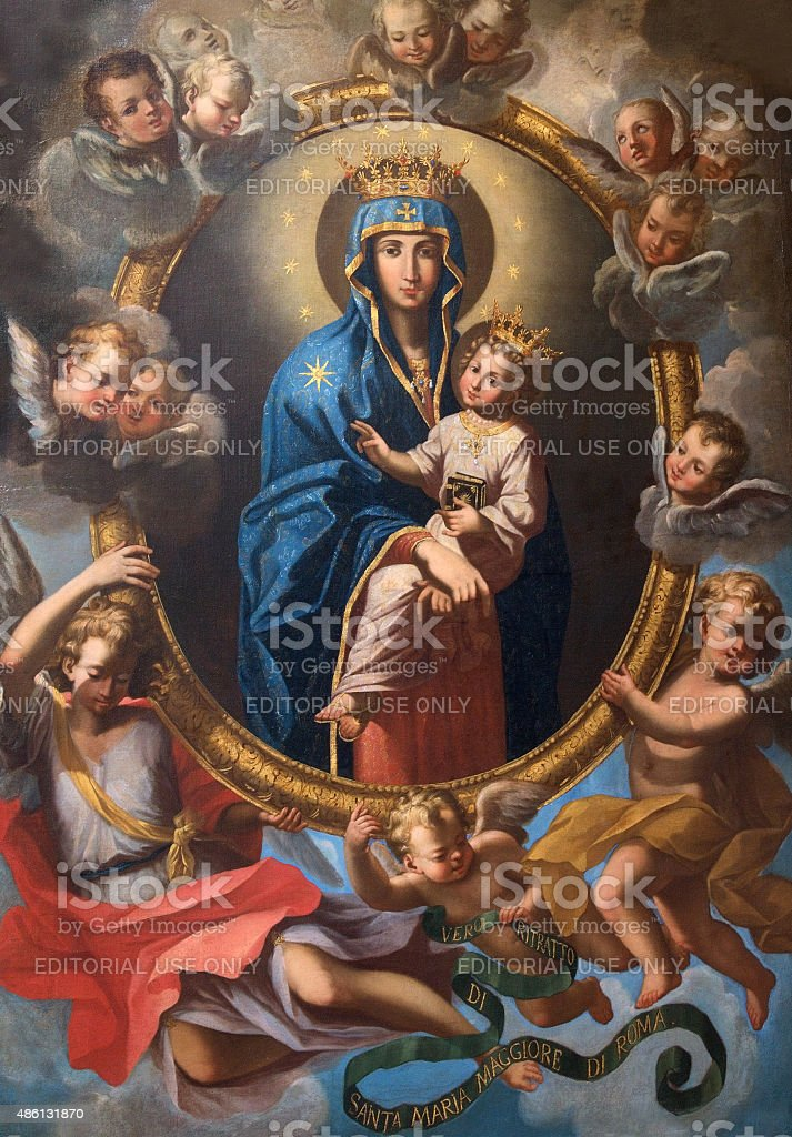 Rome - Madonna among the angels stock photo