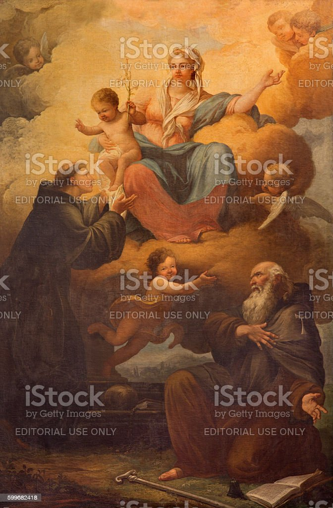 Rome - Madonna with the saints. stock photo
