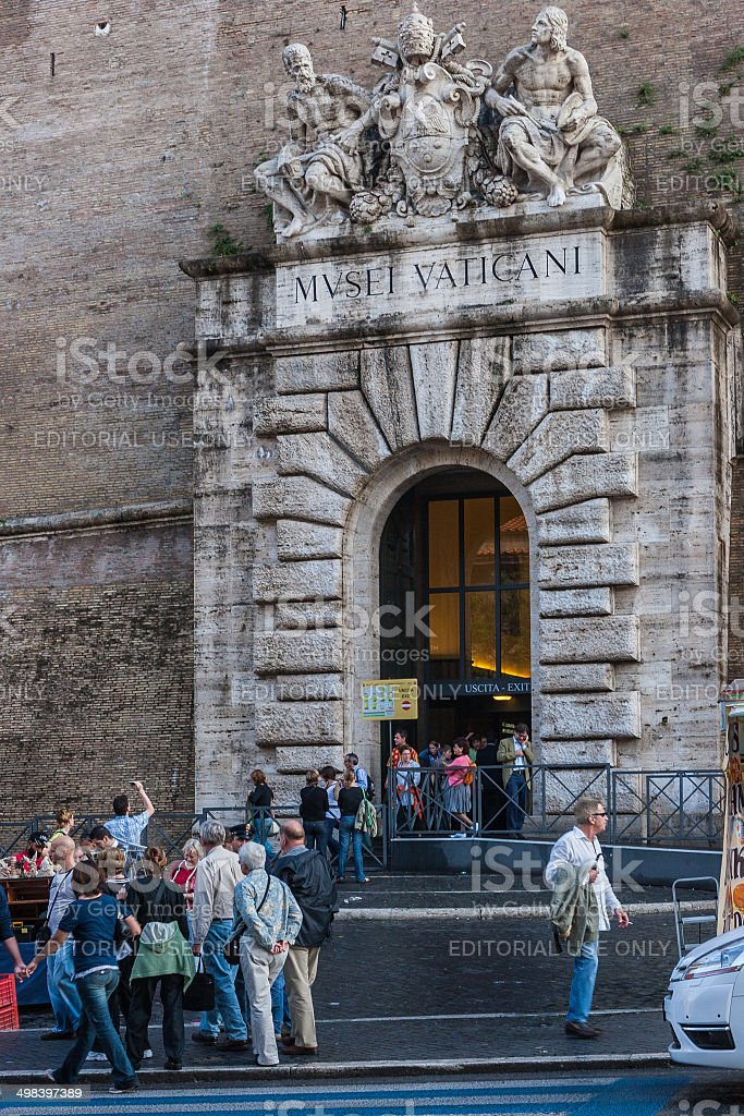 Rome - Main Exit from the Vatican Museum stock photo
