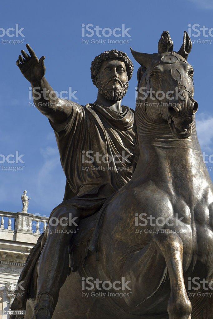 Rome - marcus aurelius statue royalty-free stock photo
