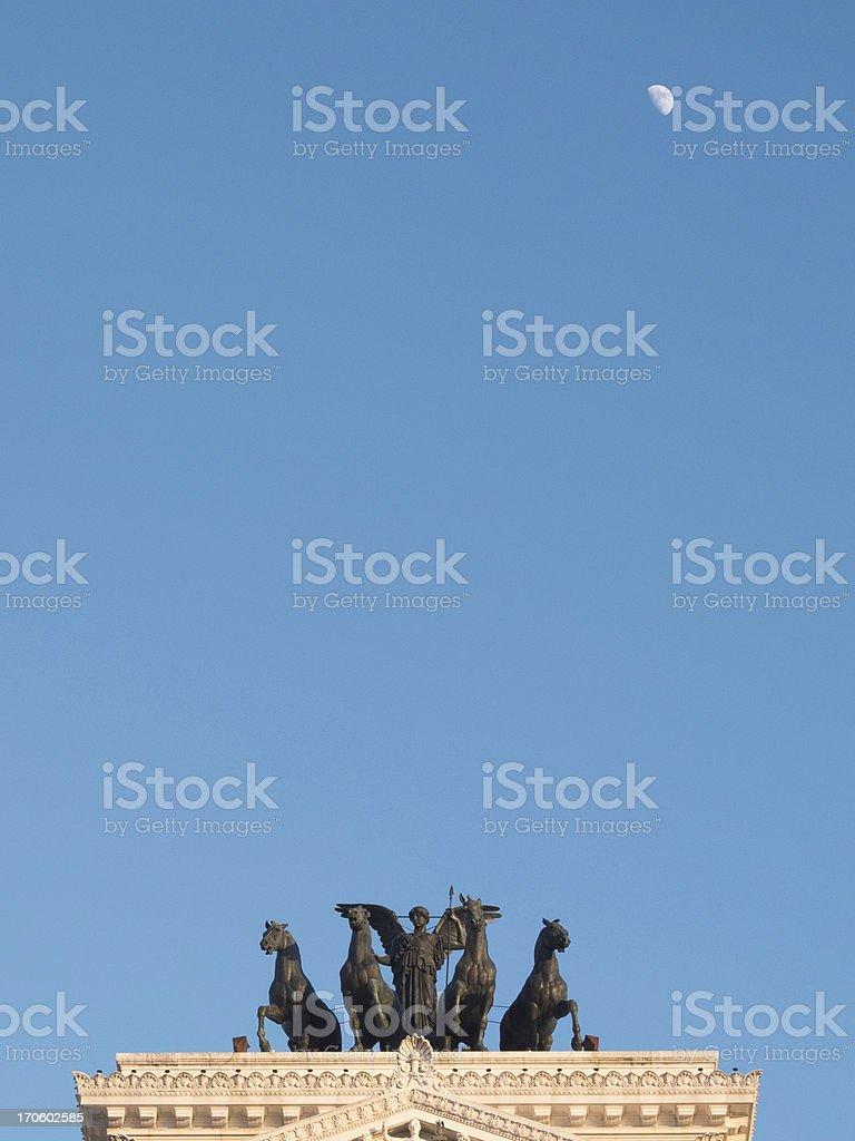 Rome Monumento Nazionale a Vittorio Emanuele II royalty-free stock photo