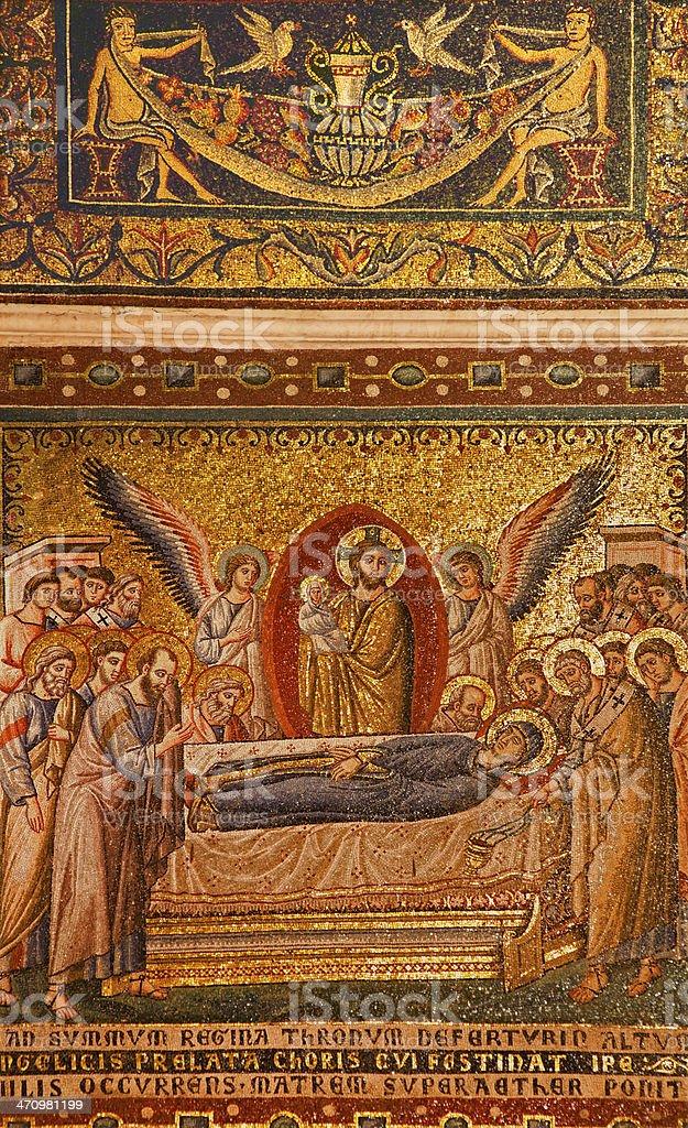 Rome - mosaic from Santa Maria in Trastevere royalty-free stock photo