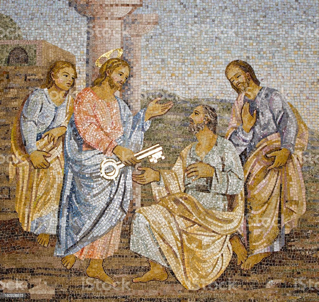 Rome - Mosaic from st. Peters cathedral stock photo