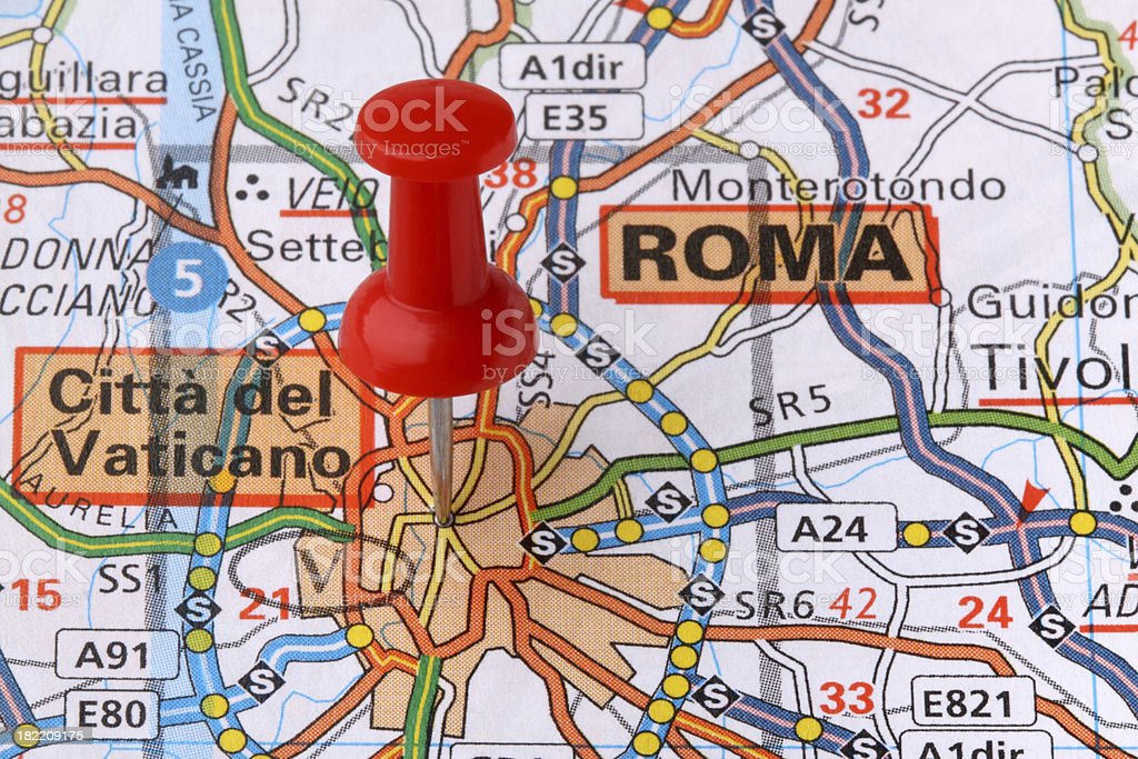 Rome on a map. royalty-free stock photo