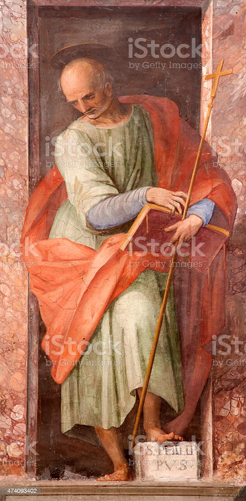 Rome - Paint of Saint Philip the apostle vector art illustration