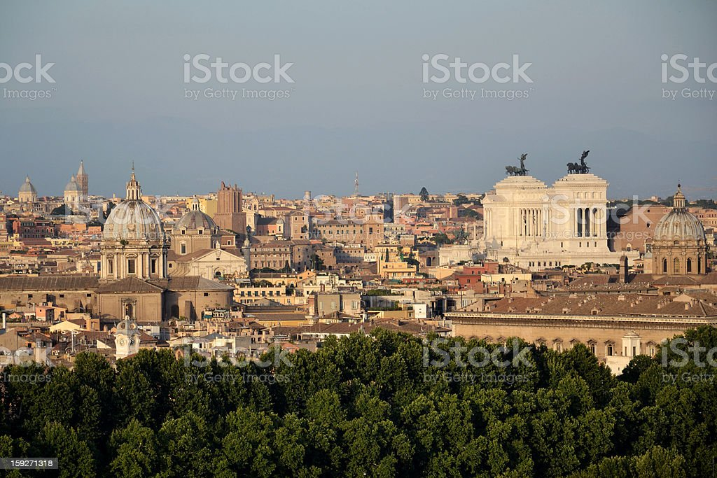 Rome panorama royalty-free stock photo