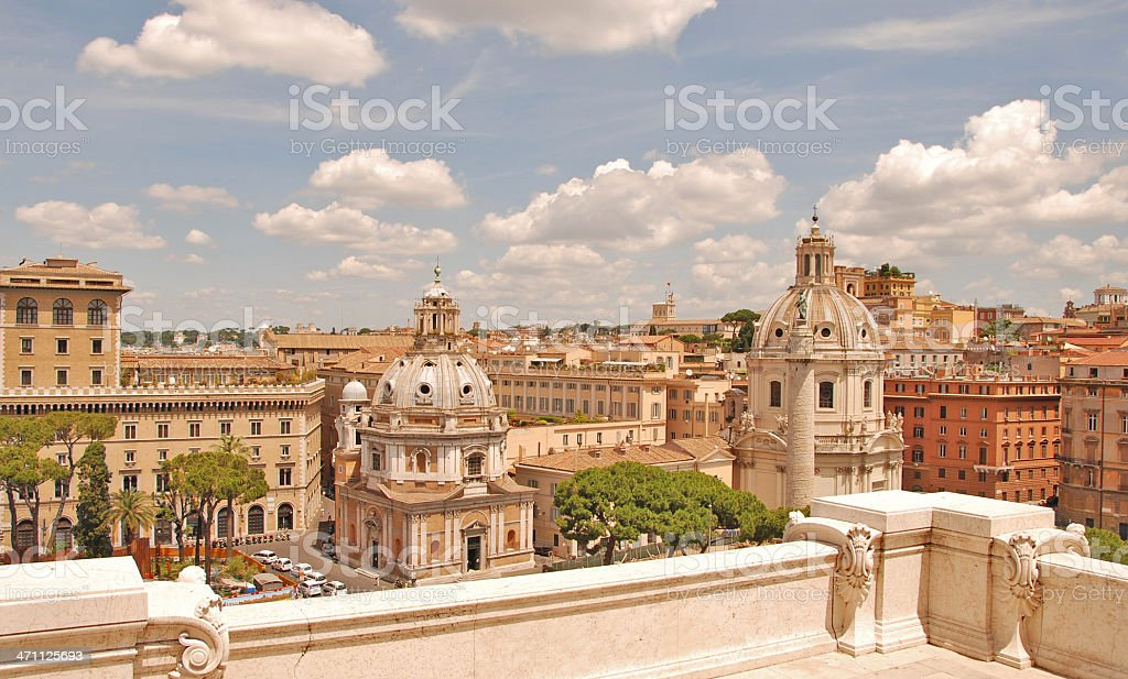 Rome Panoramic View royalty-free stock photo