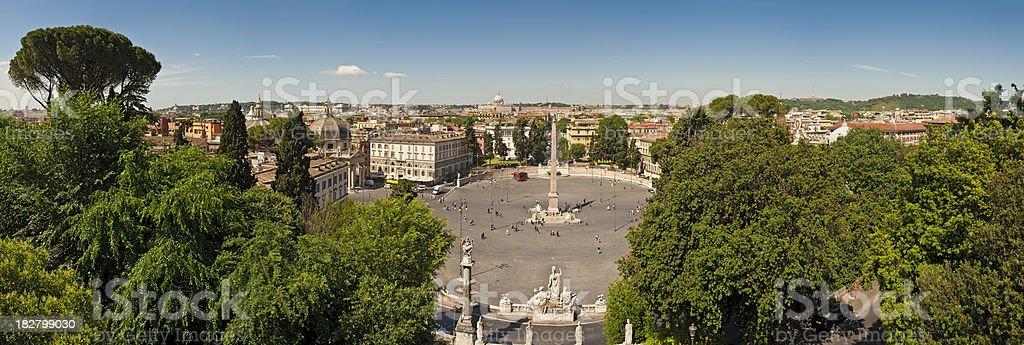 Rome Piazza del Popolo Pincio Parco della Villa Borghese Italy royalty-free stock photo
