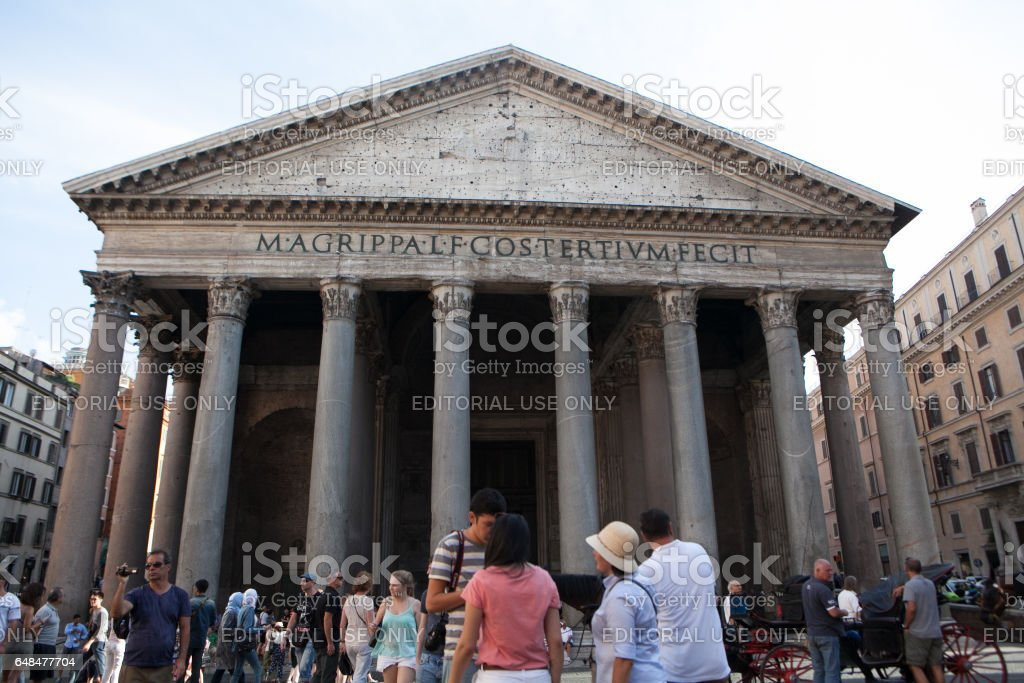 Rome - Piazza della Rotonda and Pantheon stock photo