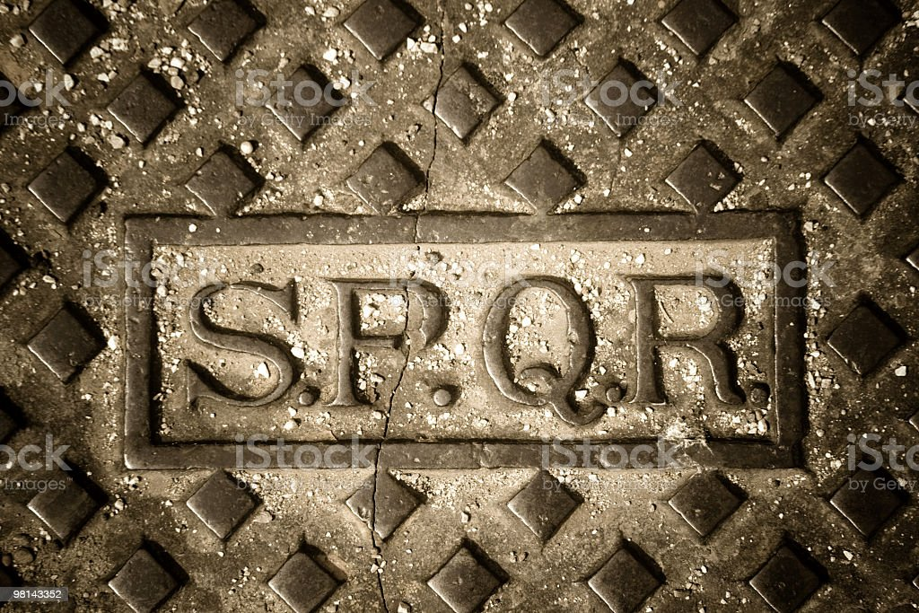 SPQR Rome royalty-free stock photo