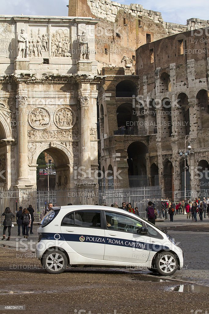 Rome police royalty-free stock photo