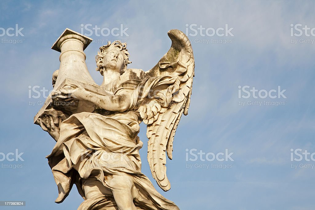 Rome - Ponte Sant'Angelo, Angel with the Column royalty-free stock photo