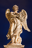 Rome -  Ponte Sant'Angelo - Angel with the crown