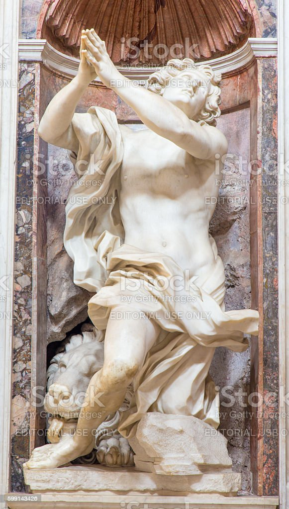 Rome - prophet Daniel marble statue by Gian Lorenzo Bernini stock photo
