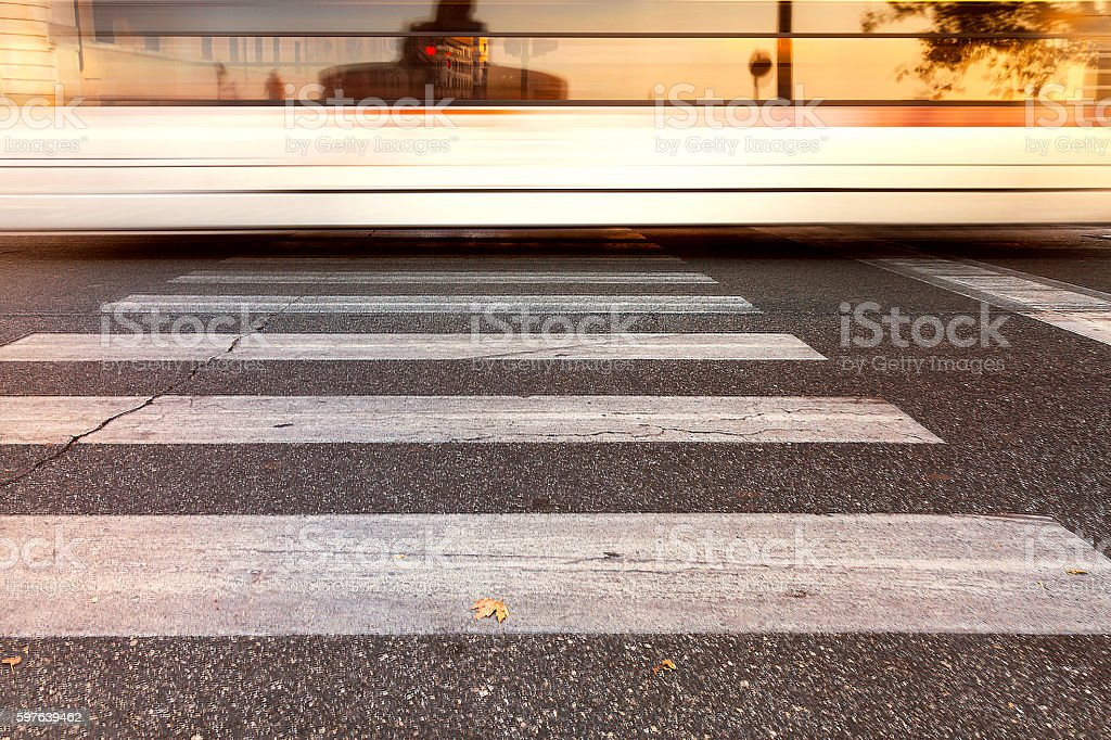 Rome reflected in a glass bus stock photo