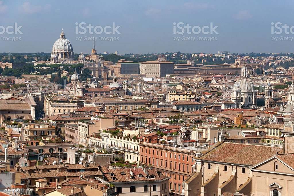 Rome roofs stock photo