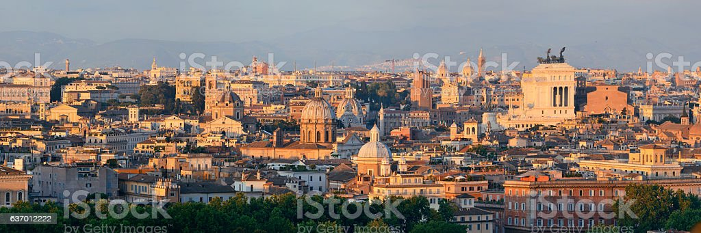 Rome Rooftop view stock photo