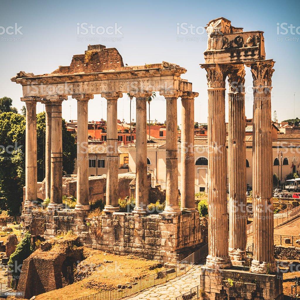 Rome ruin stock photo
