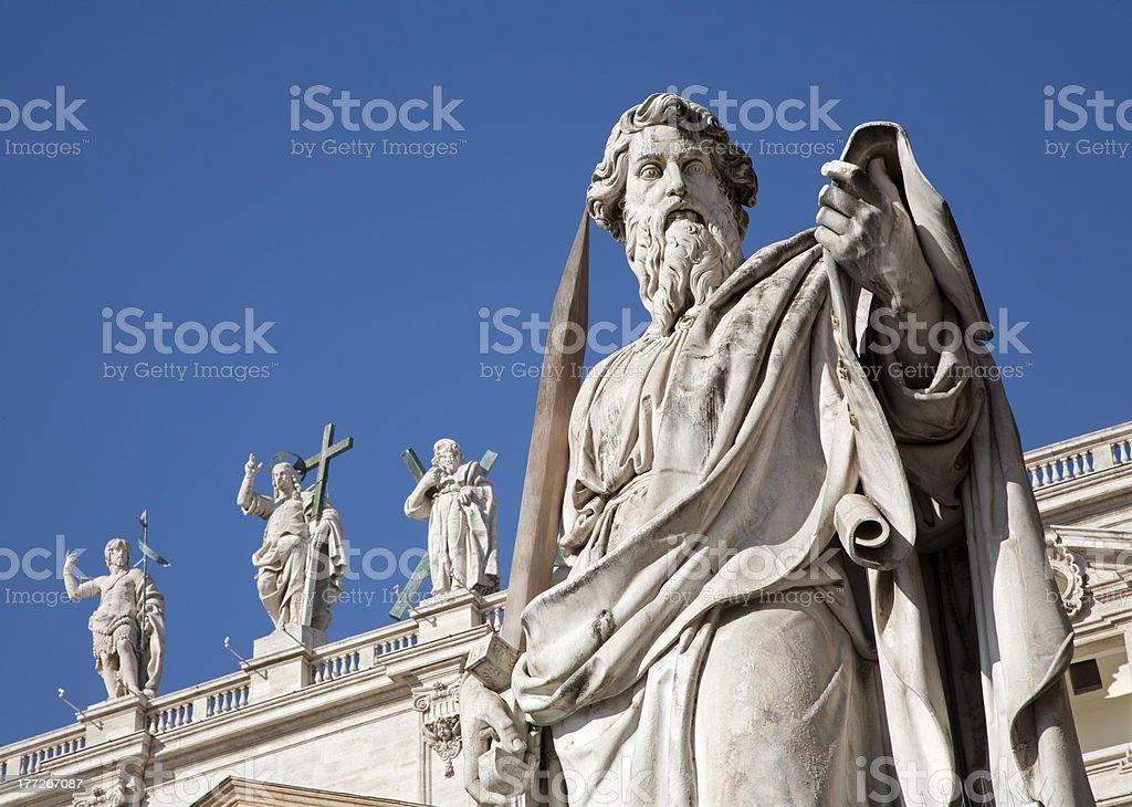 Rome - saint Paul s satatue in Vatican stock photo