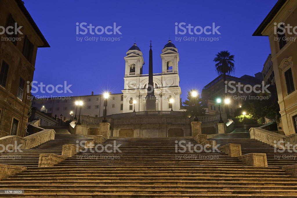 Rome Scalinata di Spagna Spanish Steps Trinita dei Monti Italy stock photo