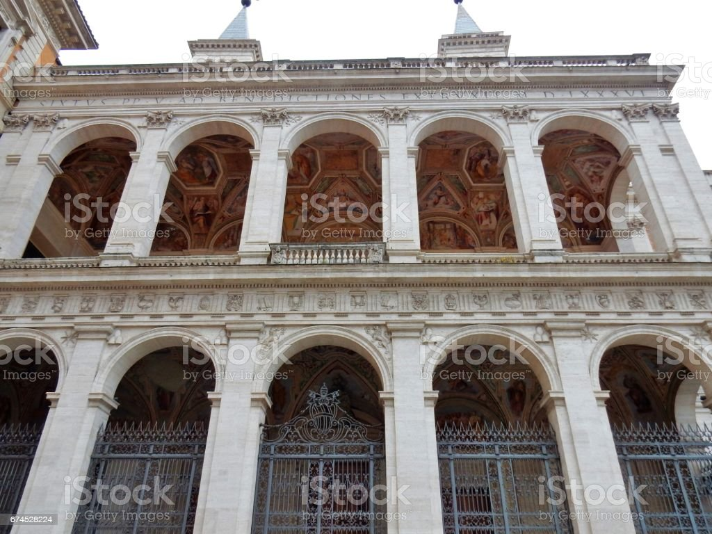 Roma - Facciata laterale di San Giovanni in Laterano stock photo