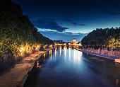 Rome skyline at dusk