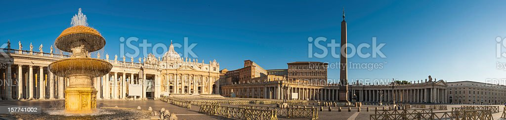 Rome St Peter's Square panorama Vatican City sunrise royalty-free stock photo